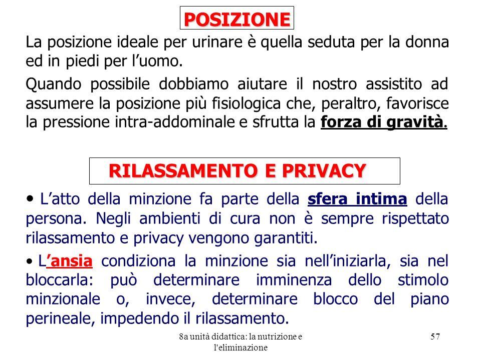 RILASSAMENTO E PRIVACY