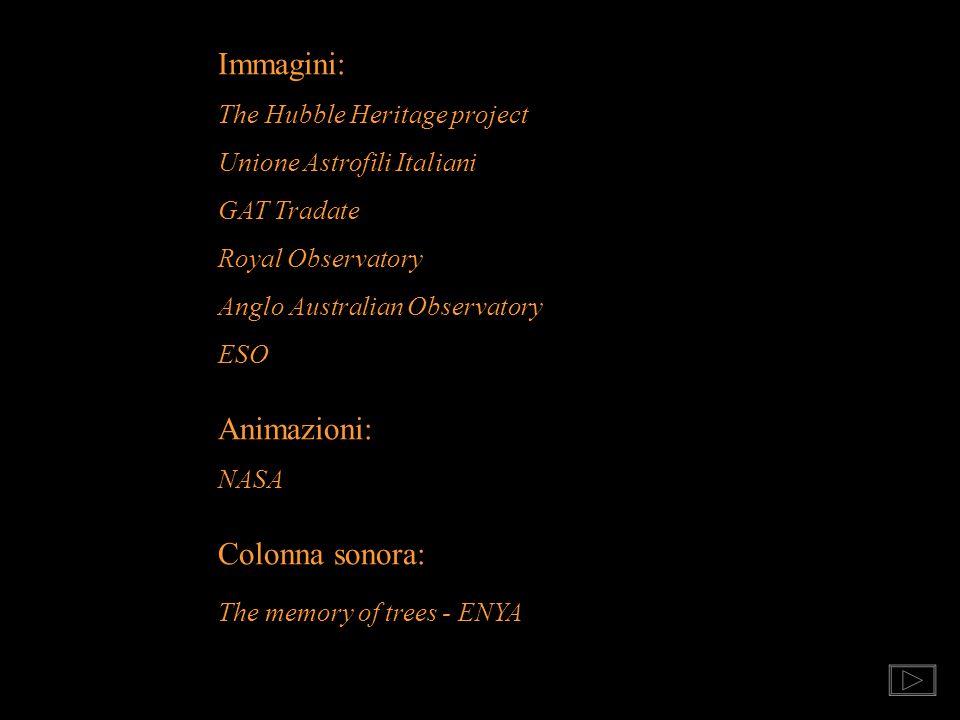 Immagini: Animazioni: Colonna sonora: The Hubble Heritage project