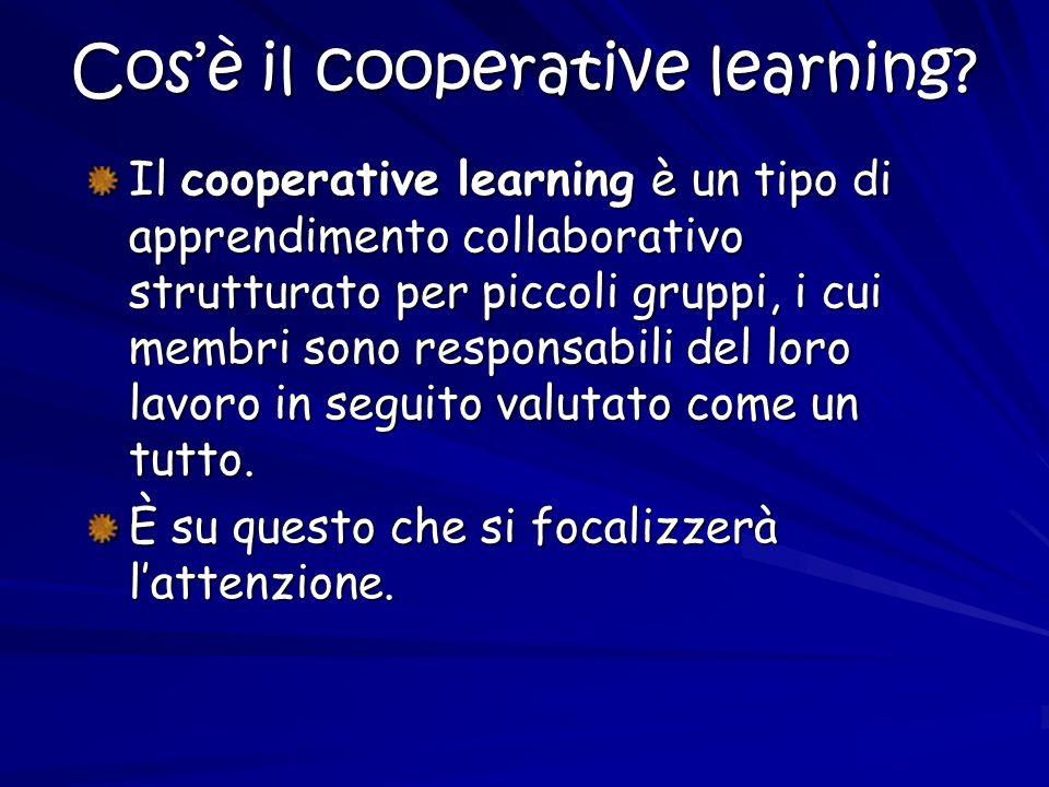 Cos'è il cooperative learning