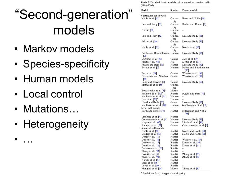 Second-generation models