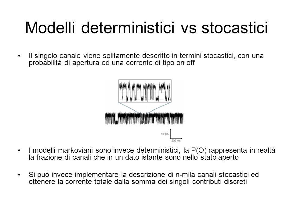Modelli deterministici vs stocastici