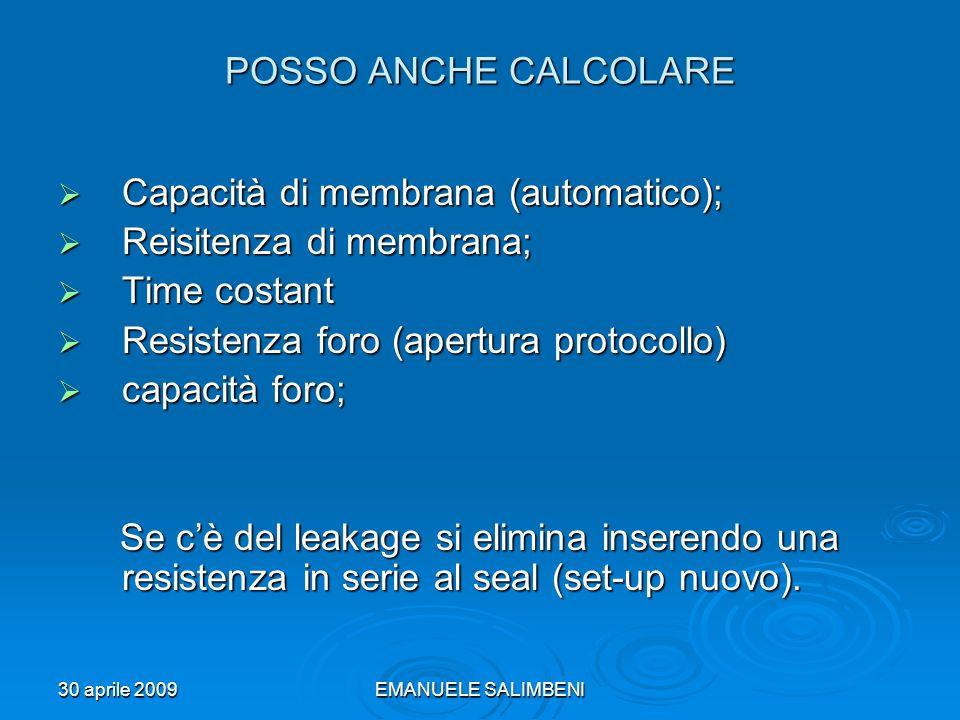 Capacità di membrana (automatico); Reisitenza di membrana;