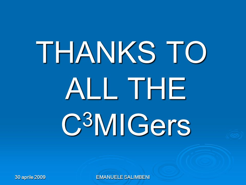 THANKS TO ALL THE C3MIGers