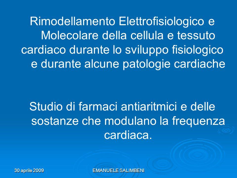 Rimodellamento Elettrofisiologico e Molecolare della cellula e tessuto
