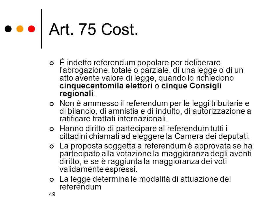 Art. 75 Cost.