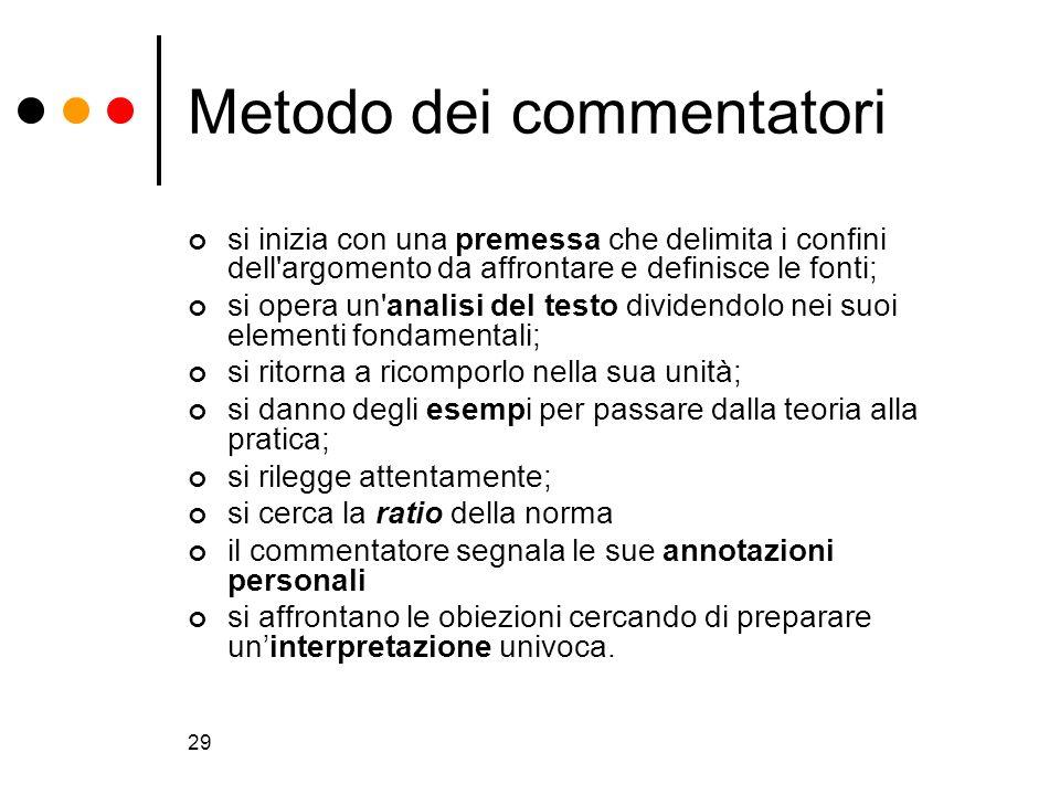 Metodo dei commentatori