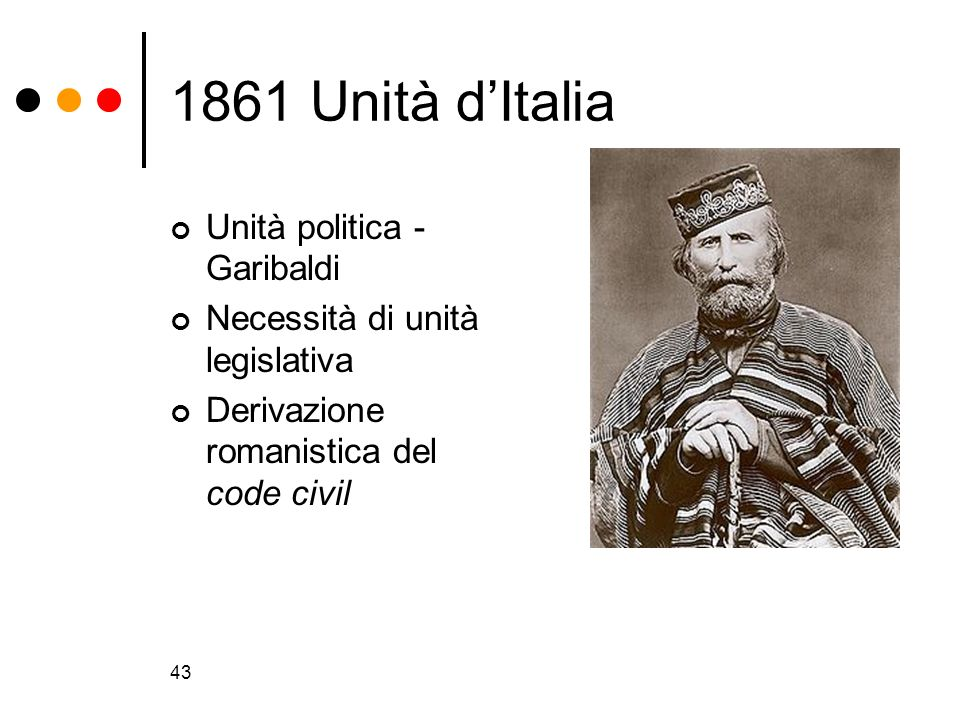 1861 Unità d'Italia Unità politica - Garibaldi