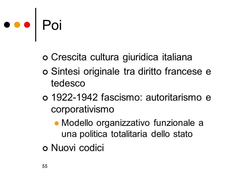 Poi Crescita cultura giuridica italiana