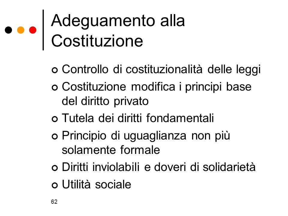 Adeguamento alla Costituzione