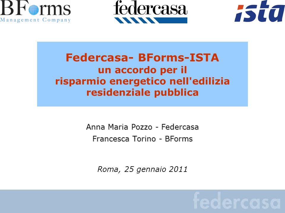 Federcasa- BForms-ISTA un accordo per il risparmio energetico nell edilizia residenziale pubblica