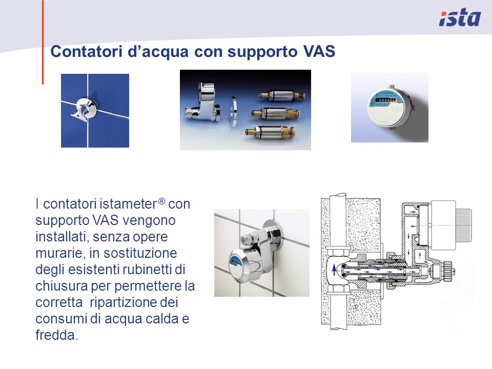 Contatori d'acqua con supporto VAS