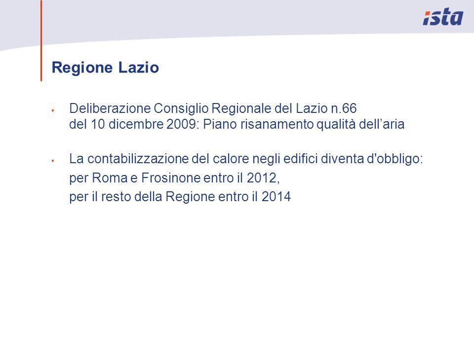 Regione Lazio Deliberazione Consiglio Regionale del Lazio n.66 del 10 dicembre 2009: Piano risanamento qualità dell'aria.