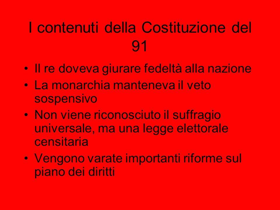 I contenuti della Costituzione del 91