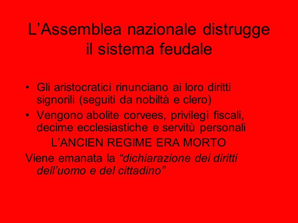 L'Assemblea nazionale distrugge il sistema feudale