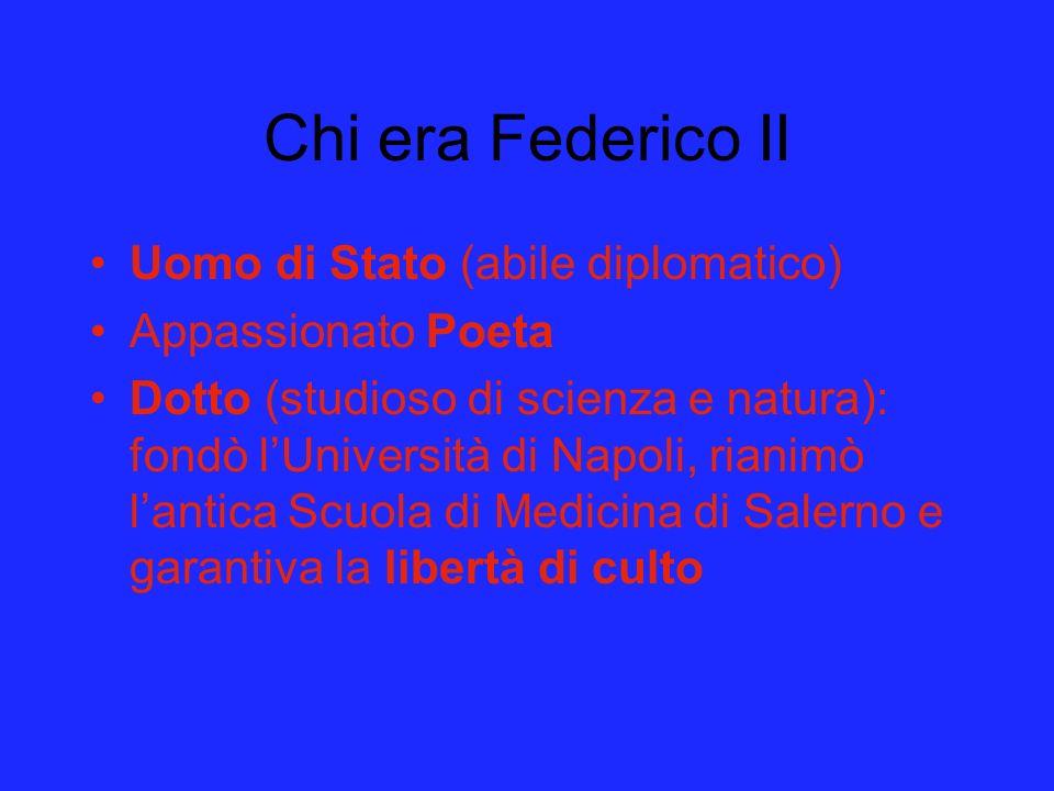 Chi era Federico II Uomo di Stato (abile diplomatico)