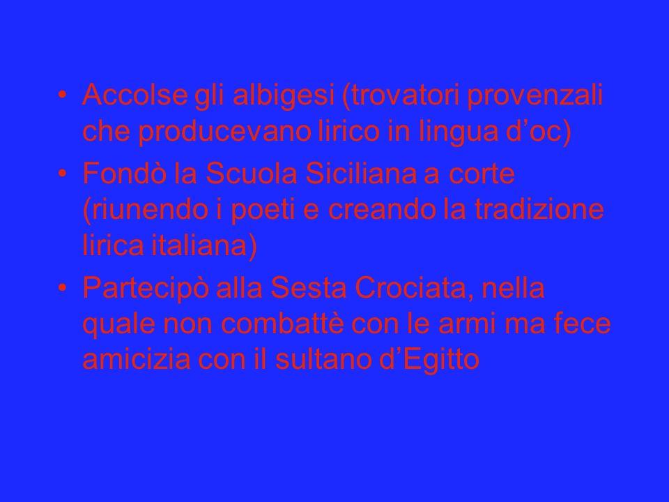 Accolse gli albigesi (trovatori provenzali che producevano lirico in lingua d'oc)