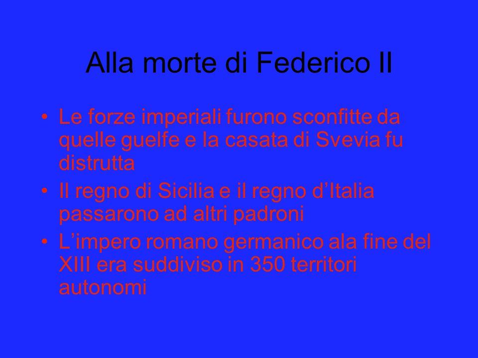 Alla morte di Federico II