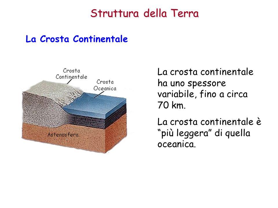Struttura della Terra La Crosta Continentale
