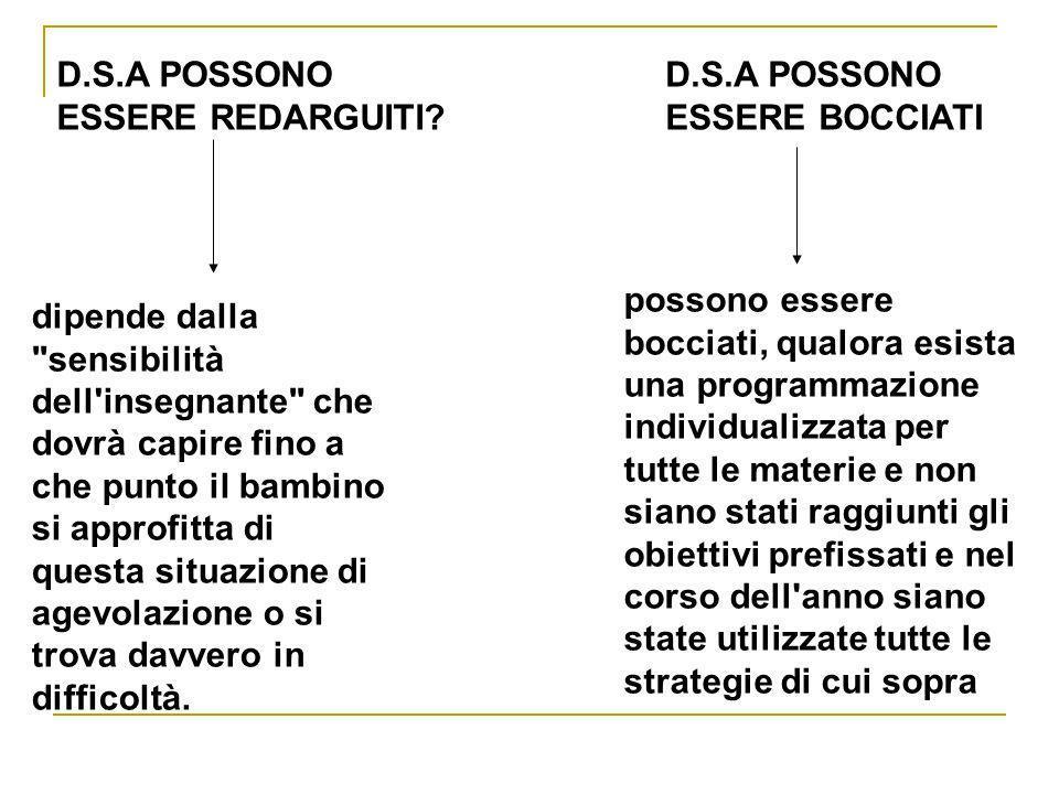 D.S.A POSSONO ESSERE REDARGUITI