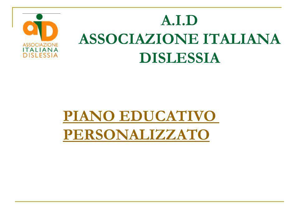 A.I.D ASSOCIAZIONE ITALIANA DISLESSIA