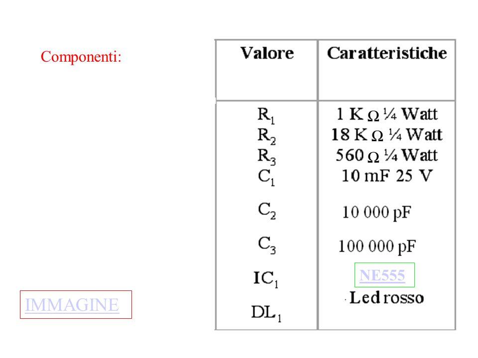 Ω NE555 Componenti: IMMAGINE
