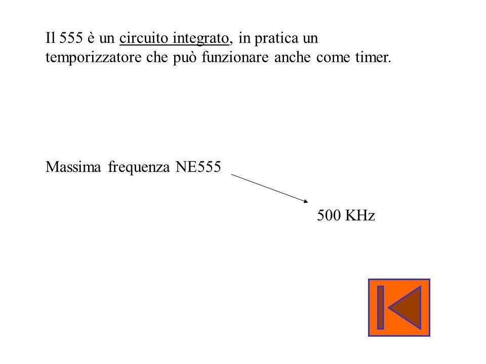 Il 555 è un circuito integrato, in pratica un temporizzatore che può funzionare anche come timer.