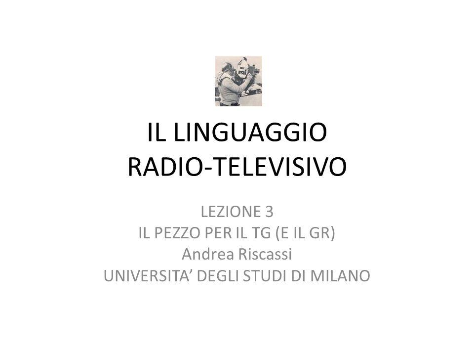 IL LINGUAGGIO RADIO-TELEVISIVO