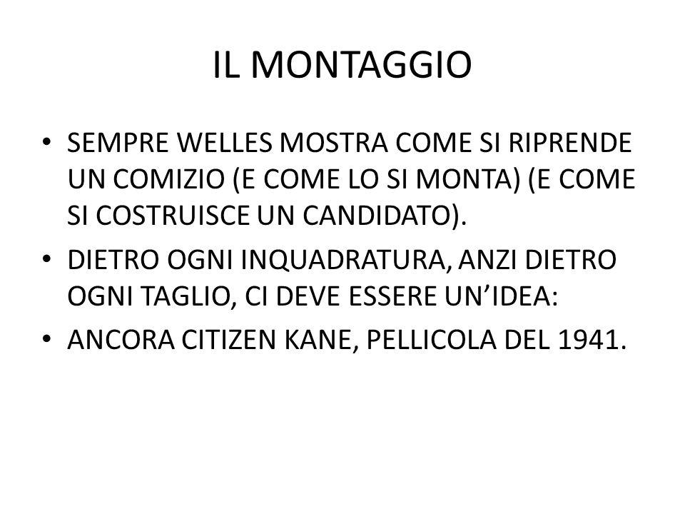 IL MONTAGGIO SEMPRE WELLES MOSTRA COME SI RIPRENDE UN COMIZIO (E COME LO SI MONTA) (E COME SI COSTRUISCE UN CANDIDATO).
