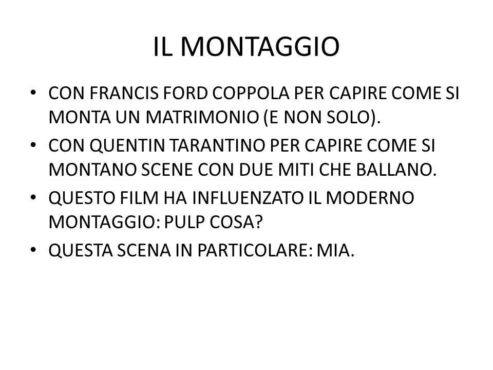 IL MONTAGGIO CON FRANCIS FORD COPPOLA PER CAPIRE COME SI MONTA UN MATRIMONIO (E NON SOLO).