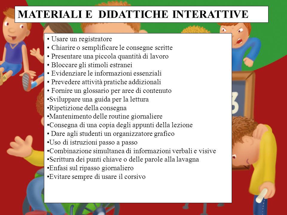 MATERIALI E DIDATTICHE INTERATTIVE