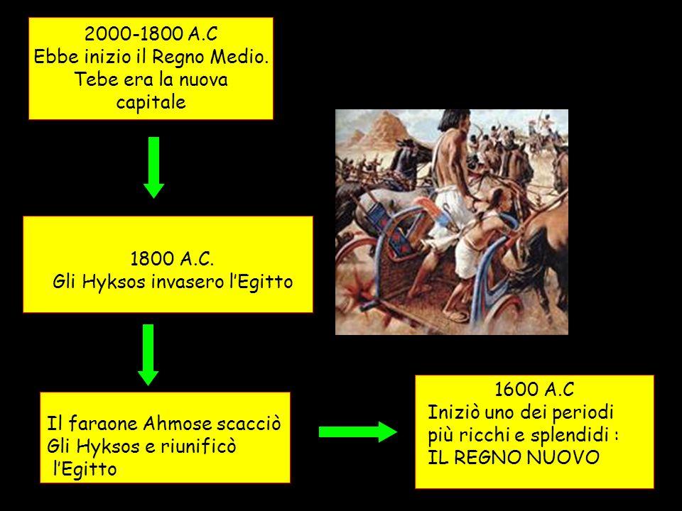Ebbe inizio il Regno Medio. Tebe era la nuova capitale
