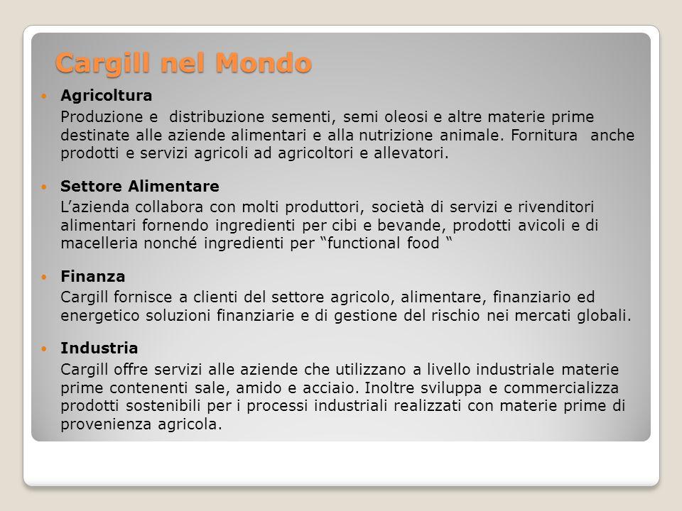 Cargill nel Mondo Agricoltura