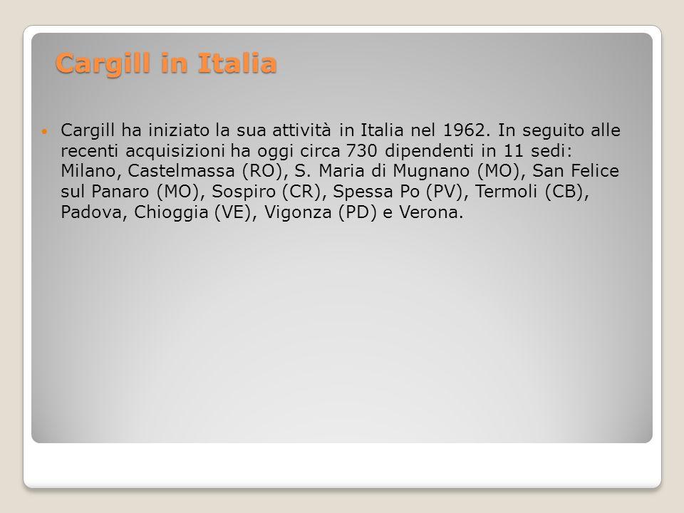 Cargill in Italia