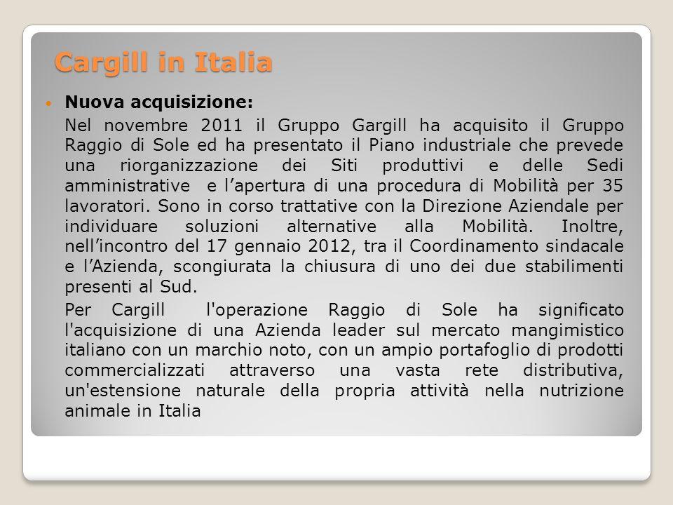 Cargill in Italia Nuova acquisizione: