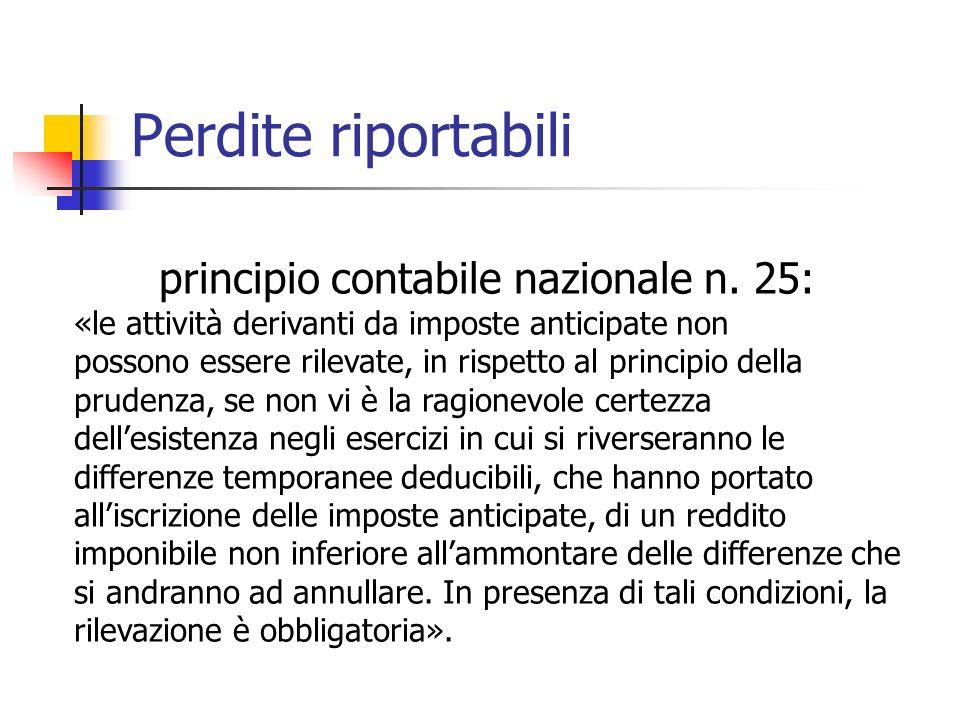 principio contabile nazionale n. 25: