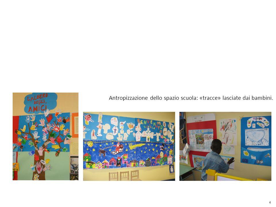 Antropizzazione dello spazio scuola: «tracce» lasciate dai bambini.