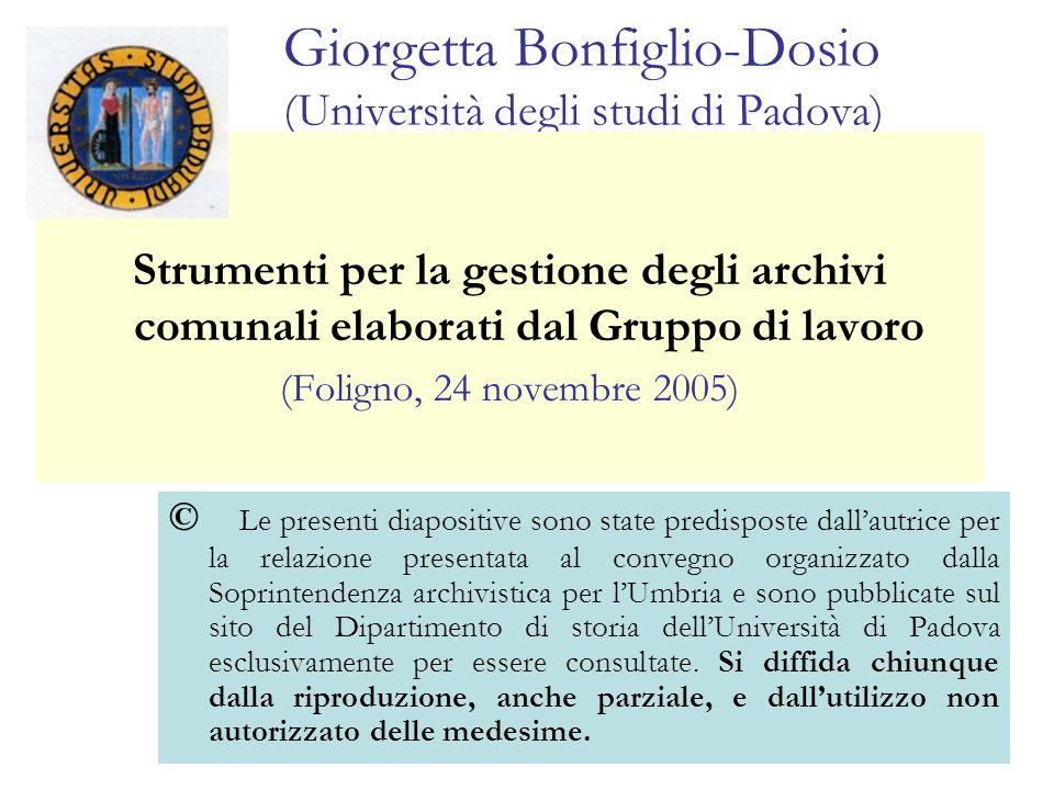 Giorgetta Bonfiglio-Dosio (Università degli studi di Padova)