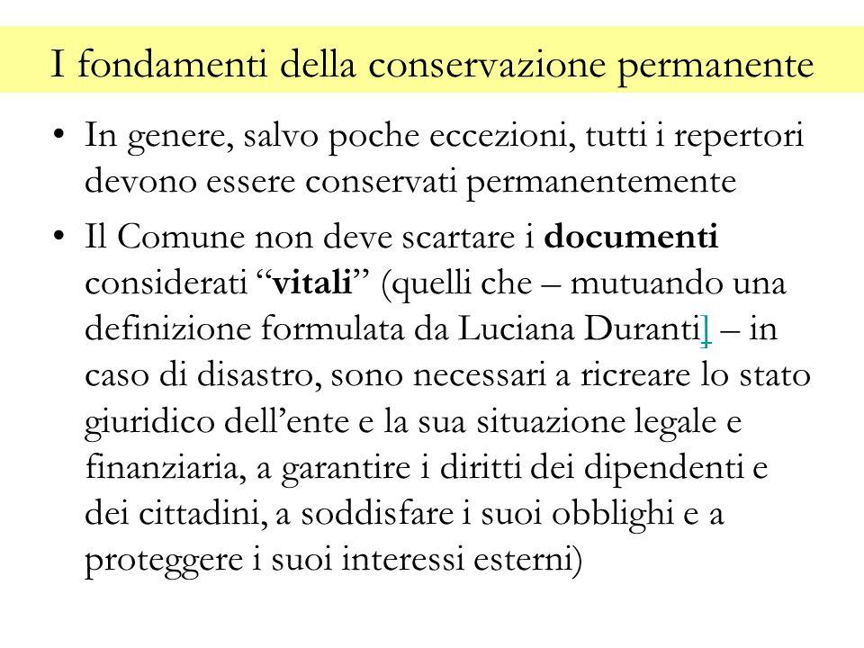 I fondamenti della conservazione permanente