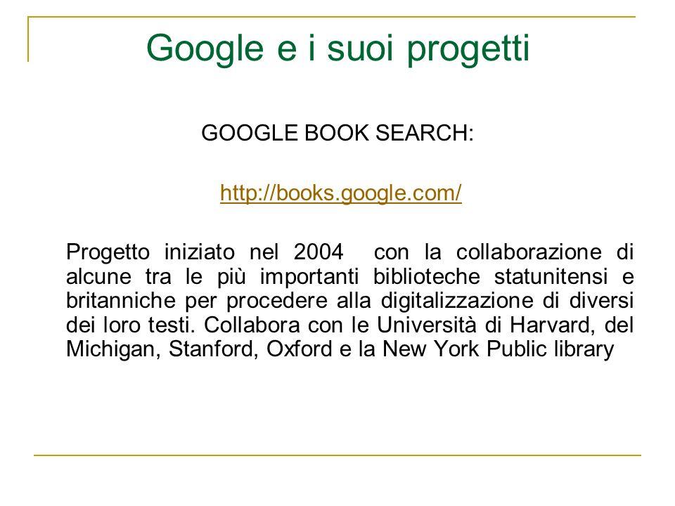 Google e i suoi progetti