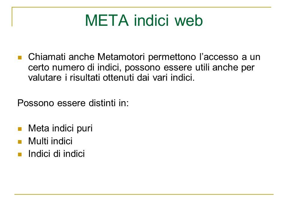 META indici web