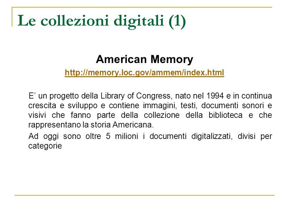 Le collezioni digitali (1)