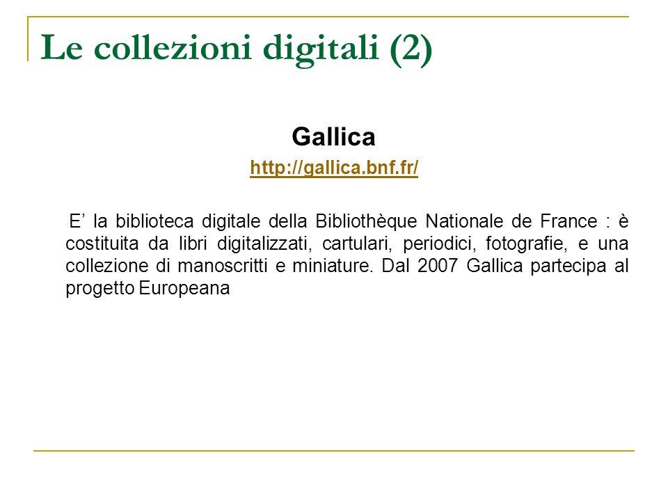 Le collezioni digitali (2)