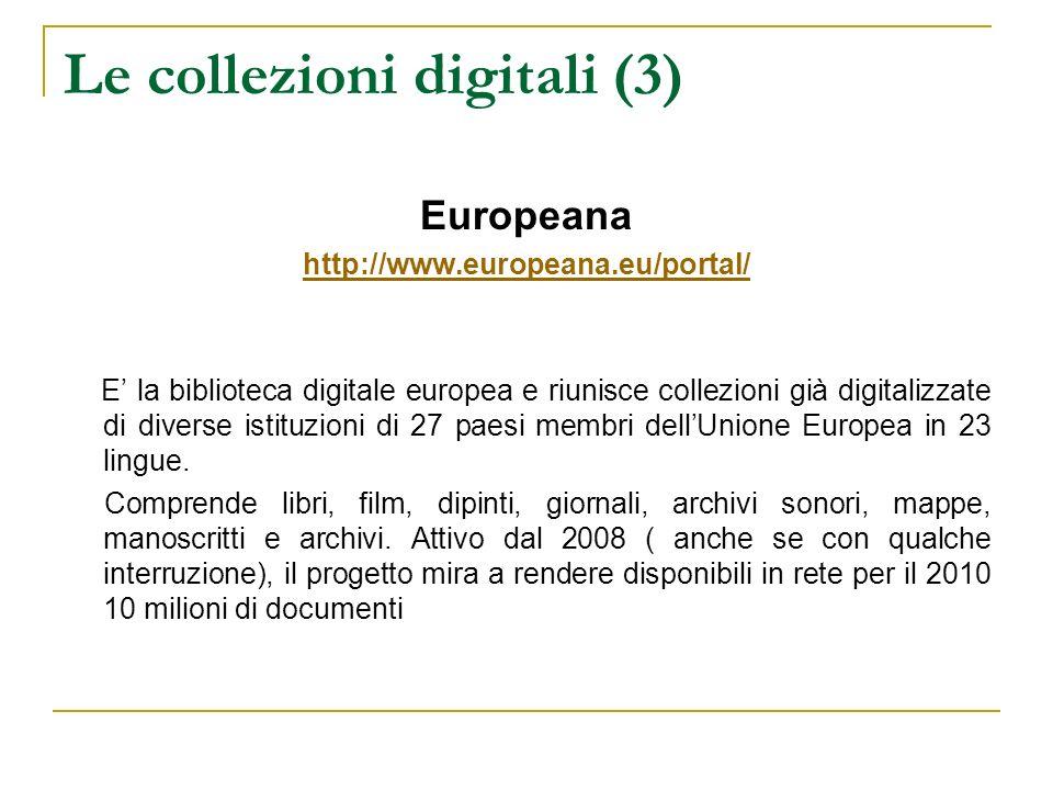 Le collezioni digitali (3)