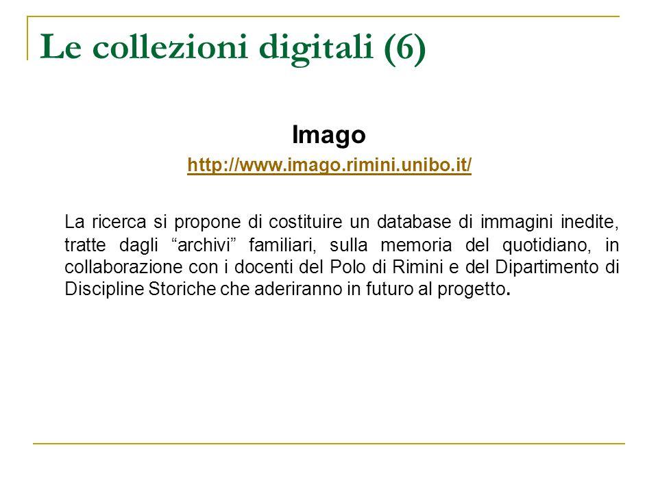 Le collezioni digitali (6)