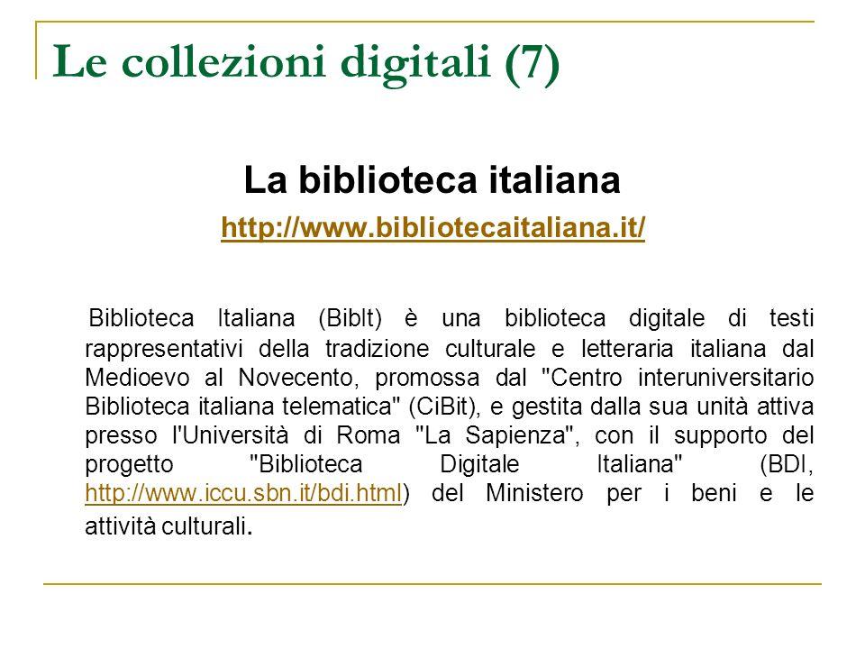 Le collezioni digitali (7)