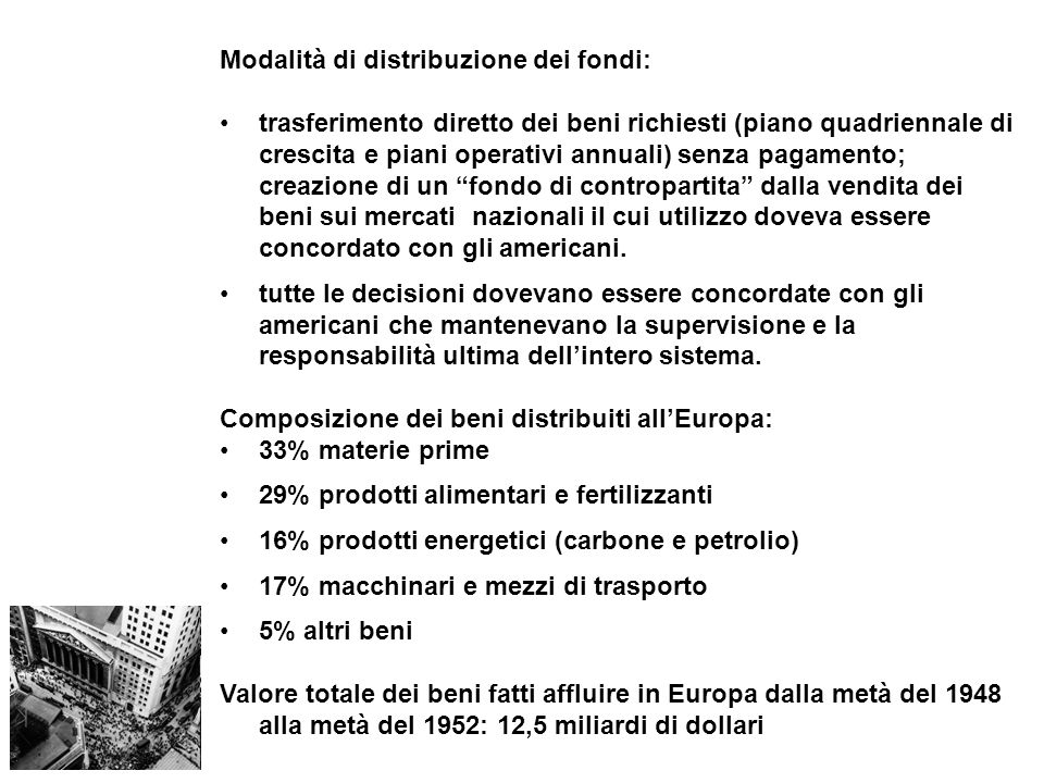 Modalità di distribuzione dei fondi: