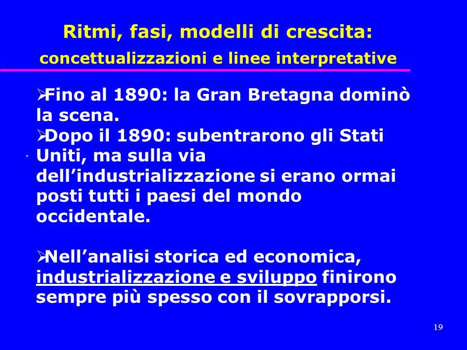 Ritmi, fasi, modelli di crescita: concettualizzazioni e linee interpretative