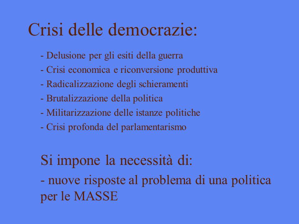 Crisi delle democrazie: