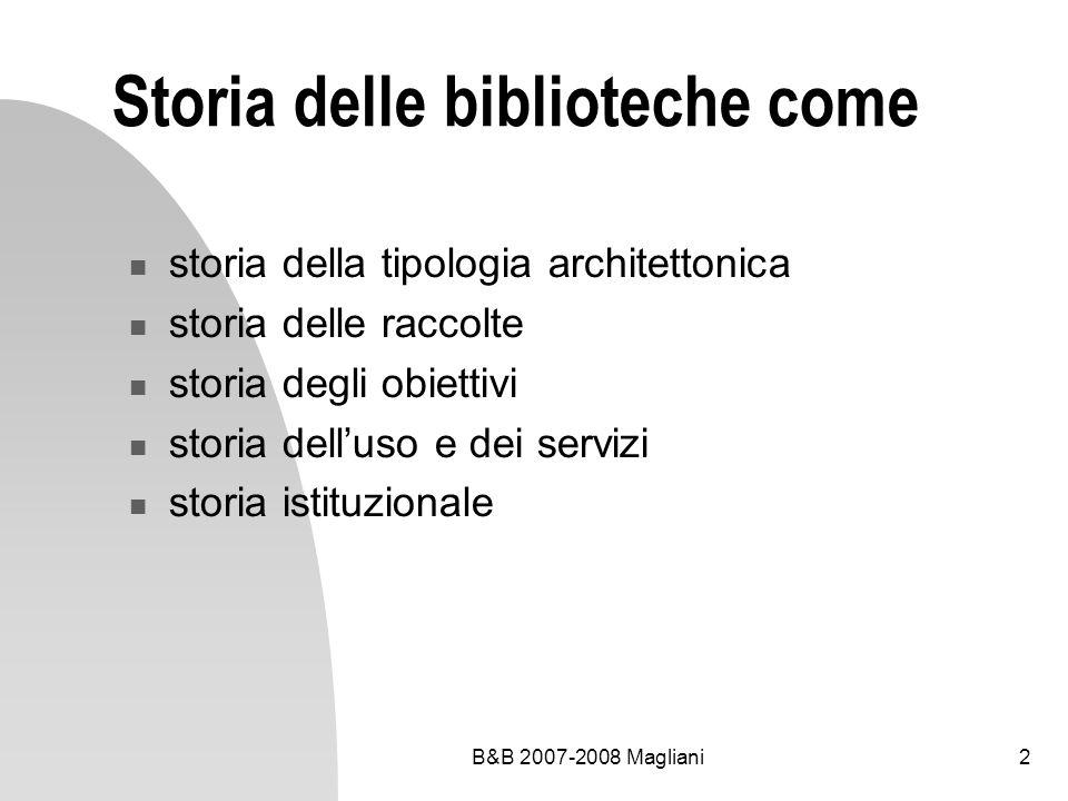 Storia delle biblioteche come