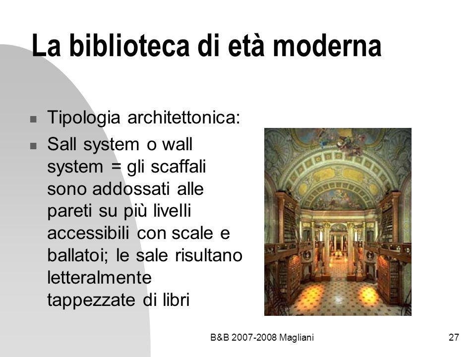 La biblioteca di età moderna
